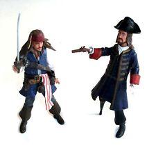 "Disney Pirates of the Caribean Movie JACK SPARROW  &  BARBOSA 3.75"" figure set"