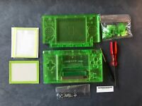 Nintendo DS Lite Full Replacement Housing Shell Screen Lens Clear Green US!