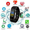 Fitness Smart Watch Activity Tracker WomenMen Kids For Fitbit Android iOS Heart