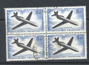 France 1966  SG 1459 Caravelle  Air block of 4  Used