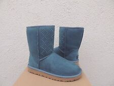 UGG EMERALD CLASSIC SHORT CRYSTAL DIAMOND BLING SHEEPSKIN BOOTS, US 8/ EUR 39