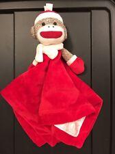 Baby Sock Monkey Rattle And Fingertip Blanket
