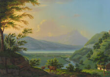 """perfect oil painting handpainted on canvas """"The beauty of the mountains"""" NO8574"""
