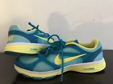 Nike Dual Fusion Tr Women Training Shoes Size 8US/ 39EUR. Cyan/ Neon Yellow