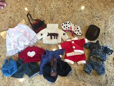 Large Lot 5+ TY Beanie Baby Clothing/Outfits- RARE, Cowboy, Santa, Golf, Angel