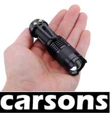 lantern lamp light LED - aluminium alloy - focus lens zoom flash tool CARSONS