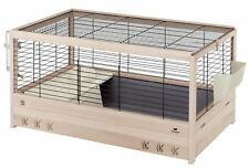 Ferplast Arena 100 Rabbit Wooden Cage, 100 x 62.5 x 51 cm, Black