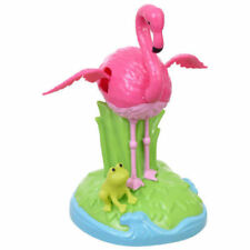 Solar Powered DANCING PINK FLAMINGO Motion Toy BIRD FLAPPING WINGS Zoo Gift NEW