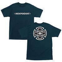 Independent Bar Iron Cross Logo Skateboard Tee T-shirt Harbor Blue M L XL XXL