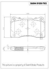 Disc Brake Pad Set-Base Front,Rear Pronto LMD1050