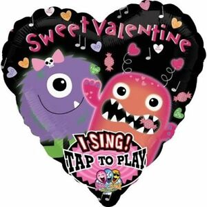 """Sweet Valentine Singing Balloon """"I like Candy"""" Anagram 29"""" Happy Valentine S-A-T"""