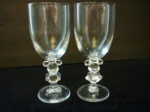 Walt Disney Mickey and Minnie Mouse Wine Goblets Stemware Set of 2