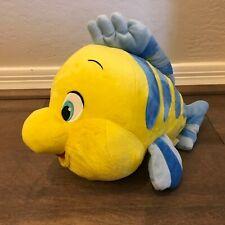 "Disney Store Flounder Plush Fish The Little Mermaid Ariel 10"" Stuffed Animal"
