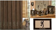 Browning® Buckmark Suede 7 pc Bathroom Accessories Set * HOT NEW DESIGN*
