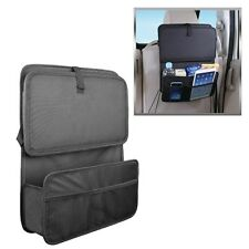 Auto Car Seat Back Organizer With Foldable Food Tray Table Mesh Pockets Drinks
