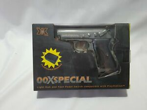00XSPECIAL LIGHT GUN WITH PEDAL FOR PLAYSTATION 1 - NEW