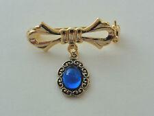 JOYA para/de muñeca -Broche con pierre azul - DOLL PIN (USP41)