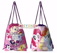 Set of 2 My Little Pony Drawstring Backpack School Sport Gym Tote Bag