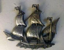 Metal Sailing Ship Wall Hanger Vintage 3D Clipper. Decor