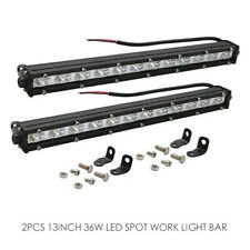 2Pcs 13Inch 36W LED Light Bar Spot Beam Driving Offroad Work Lamp SUV ATV JEEP