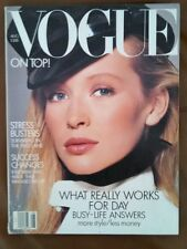 ***VINTAGE VOGUE August 1987 Estelle Lefebure cover
