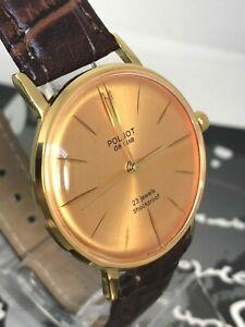 Watch Poljot De Luxe ultra slim Vintage Mechanical Wrist Watch USSR Serviced