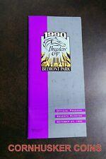 1990 BREEDERS CUP PROGRAM & ADMIN TICKETS ~ BC CLASSIC WINNER UNBRIDLED ~ MINT