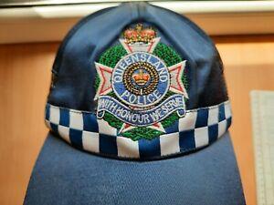 Australia Queensland Police SERVICE HAT POLICEMAN CAP POLIZEI HUT WITH HONOUR WE