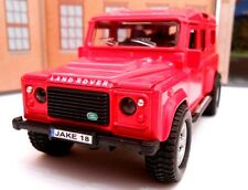 LANDROVER DEFENDER with PERSONALIZED PLATES Model Toy Car boy dad birthday gift!