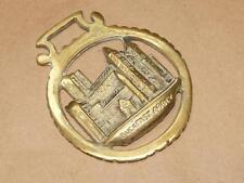 Vintage Solid Brass Horse Equestrian Tack Medallion of Buckfast Abbey