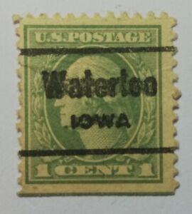US POSTAGE ''1 CENT 1'' 1917 VERDE CHIARO WASHINGTON ANNULLATO.