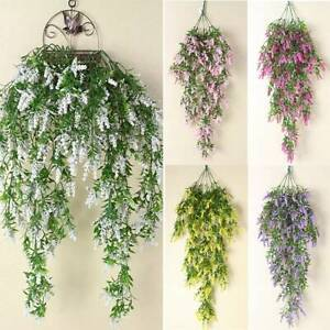 Artificial Fake Floral Vine Plant Home Garden Wall Hanging Decoration Outdoors