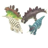 "4 Dinosaur Action Figures Toys Lot, 5""-7 inch Average Size Various Breeds, Used"