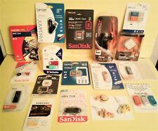 Flash Jump Twist Thumb Drives, Memory Cards, Micro SDHC 7-Lights 4-Port Hub -NIP