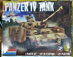 Monogram 85-7861 1/32 Scale Panzer IV Tank Model Kit For Parts With Instructions