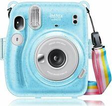 Hard Clear Case for Fujifilm Instax Mini 11 Instant Film Camera+Shoulder Strap