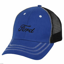 NEW OFFICIAL FORD MOTOR COMPANY STRUCTURED MESH ROYAL BLUE EMBROIDERED HAT/CAP!
