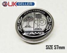 Mercedes AMG Light Logo Emblem Badge Front Bonnet Hood Class C E S 57mm Clip Uk