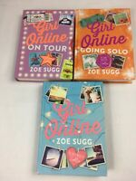 Girl Online 3 Book Set Full Collection, By Zoe Sugg - Zoella Going Solo On Tour