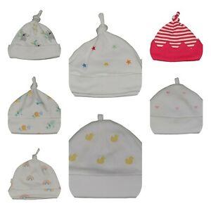 Ex Chainstore Baby Hats Sets Cotton NEW Tiny Newborn 0-3 3-6 & 6-9