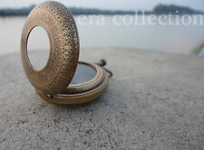 Nautical Antique Brass Vintage Handmade Push Button Compass Ship Instrument Gift