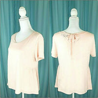 Anthropologie Sunday In Brooklyn Pink Tie Back Knit Top Size Small  New W/O Tags