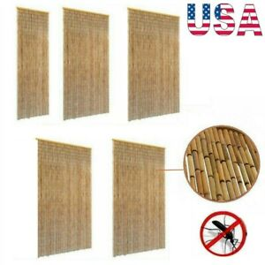 New Beaded Insect Door Curtain Bamboo Bug Fly Screen Blind Mesh Home Multi Sizes