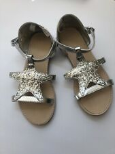 GYMBOREE MERMAID COVE Sandals 13 SILVER SPARKLY Shoes Summer OCEan Starfish