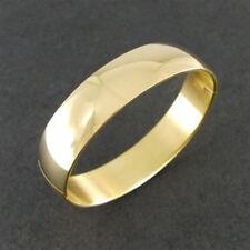 Klassischer goldfarbener ovaler Edelstahl Klapp Armreif Damenarmreif