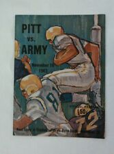 Vintage 1963 PITTSBURGH PANTHERS PITT Vs ARMY BLACK KNIGHTS Football Program