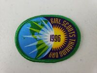 """Vintage 1996 Girl Scouts Thinking Day Patch 2.5"""" Oval NOS"""