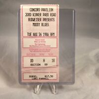 The Moody Blues Concord Pavilion CA Concert Ticket Stub Vintage August 26 1986