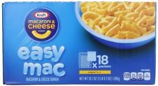 Kraft Easy Mac Original Macaroni and Cheese Dinner 18 Microwaveable Single