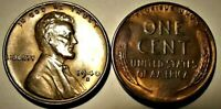 Uncirculated 1940-S Lincoln Wheat 1c #2 END COINS from OBW rol UNC RD/BROWN TONE